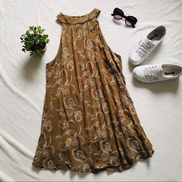 4b675f3d54 entro Dresses   Skirts - Anthropologie entro boho paisley high neck dress